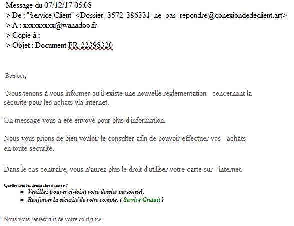 Mail - phishing décembre 2017
