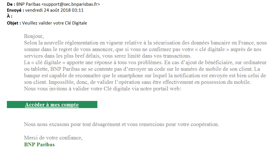 Mail - phishing septembre 2018