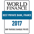 Logo World Finance Best Private Bank, France 2017